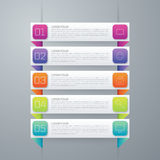 Colorful vector design for workflow layout Stock Image