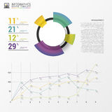 Colorful vector design for workflow layout. Modern diagram. Infographics Stock Photography