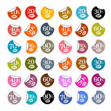Colorful Vector Discount Stickers, Labels Royalty Free Stock Photography