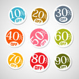 Colorful Vector Discount Stickers, Labels Stock Image