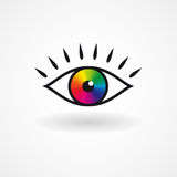 Colorful vector eye  icon. Colorful vector eye icon creative design vector illustration Stock Photography