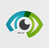Colorful vector eye paper design Royalty Free Stock Photography