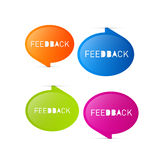 Colorful Vector Feedback Icons. Isolated on White Background Stock Photography