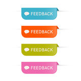 Colorful Vector Feedback Icons Set Royalty Free Stock Photography