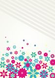 Colorful Vector floral background Stock Image