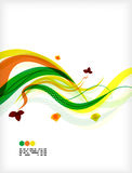 Colorful vector floral design templates Royalty Free Stock Photography