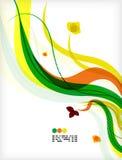 Colorful vector floral design templates Stock Photos