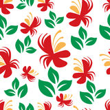 Colorful vector floral pattern Stock Photo