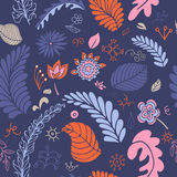 Colorful vector floral seamless pattern Stock Images