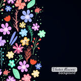Colorful vector flowers background Stock Photo