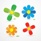 Colorful Vector Flowers Illustration Royalty Free Stock Photography