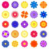 Colorful vector flowers set Stock Photo