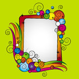 Colorful Vector frame With Bubbles Royalty Free Stock Photo