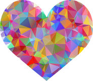 Colorful Vector Geometric Mosaic Heart Royalty Free Stock Images