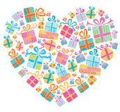 Colorful vector gift boxes. Royalty Free Stock Photo
