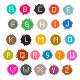 Colorful Vector Grunge Splashes Alphabet ABC Stock Image