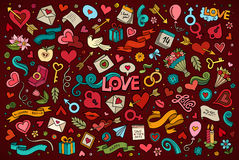 Colorful vector hand drawn doodles cartoon set of Stock Photos
