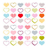 Colorful Vector Heart Set Royalty Free Stock Photography