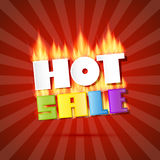 Colorful Vector Hot Sale Title in Flames Stock Photos