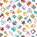 Colorful vector household background Royalty Free Stock Photo