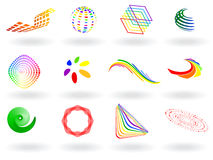 Colorful vector icons. Vector - collection of colorful 3D vector icons vector illustration
