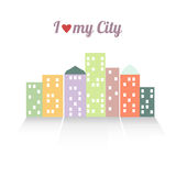 Colorful vector illustration of the city. EPS 8 Stock Image