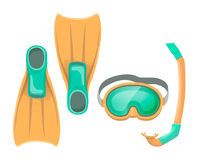 Colorful vector illustration of diving mask Stock Image