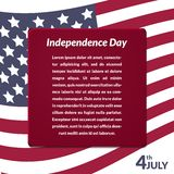 Colorful vector illustration of independence day Stock Image