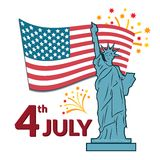 Colorful vector illustration of independence day Royalty Free Stock Photo