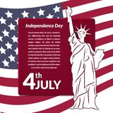 Colorful vector illustration of independence day Stock Images