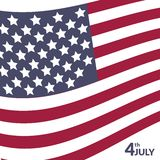 Colorful vector illustration of independence day Royalty Free Stock Photography