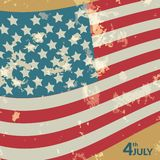 Colorful vector illustration of independence day Stock Photos