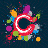 Colorful vector ink splash seamless pattern with overlap circles Royalty Free Stock Image