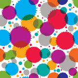 Colorful vector ink splash seamless pattern Stock Photos