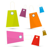 Colorful Vector Labels Set Royalty Free Stock Images