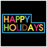 Colorful vector letters icon. word happy holidays vector. EPS file available. see more images related Stock Photo