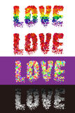 Colorful vector love font Royalty Free Stock Images