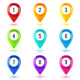 Colorful Vector Map Point Symbols Set Stock Photography