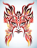 Colorful Vector mask - tribal - tattoo Royalty Free Stock Image