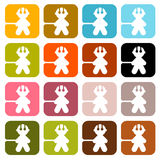 Colorful Vector Men Icons Stock Images