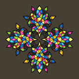 Colorful vector mosaic background royalty free illustration