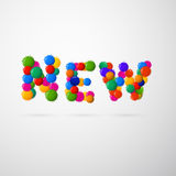 Colorful Vector New Blots Title Royalty Free Stock Image