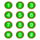 Colorful Vector Numbers Stock Image