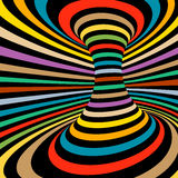 Colorful vector op art pattern. Optical illusion abstract background. Stock Image