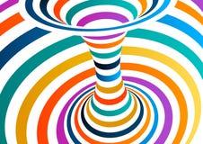 Colorful vector op art pattern. Optical illusion abstract background. Colorful vector op art pattern. Optical illusion abstract background stock illustration