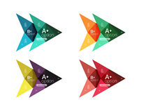 Colorful vector option banner arrow templates, infographic layouts Stock Image