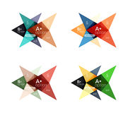 Colorful vector option banner arrow templates, infographic layouts Stock Photography
