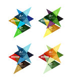 Colorful vector option banner arrow templates, infographic layouts Royalty Free Stock Image