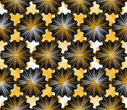 Colorful vector ornamental pattern, seamless art background deco Stock Images