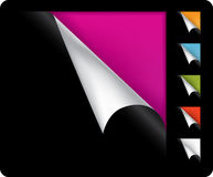 Colorful vector page curled corners Royalty Free Stock Photo